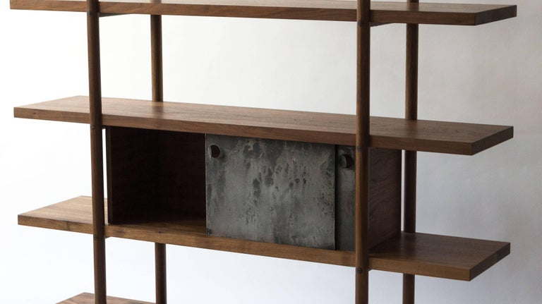 Deepstep Shelving, Modular Storage with Fine Wood Detailing For Sale 6