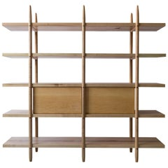 Deepstep Shelving, Modular Storage with Fine Wood Detailing