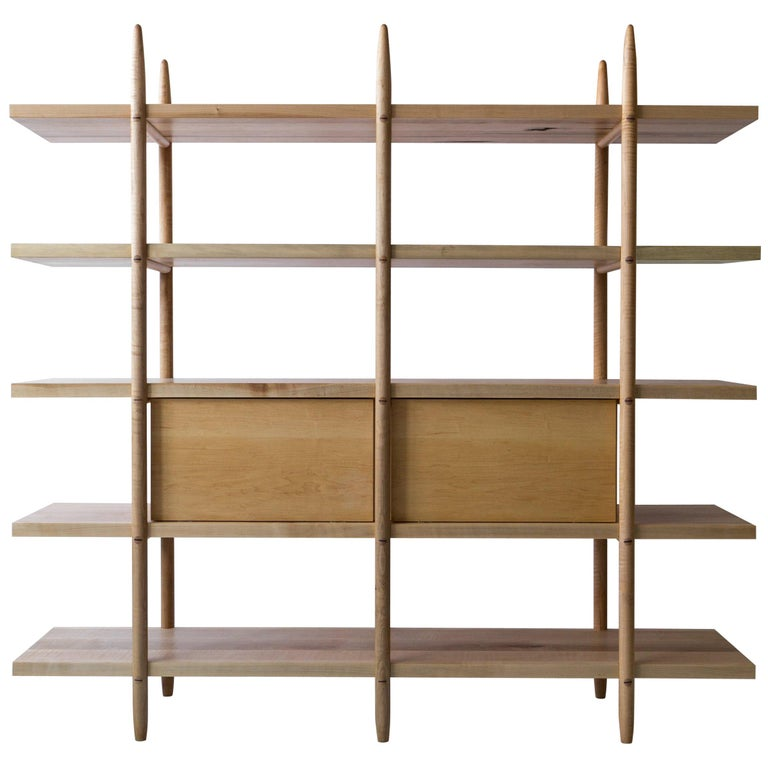 Deepstep Shelving, Modular Storage with Fine Wood Detailing For Sale