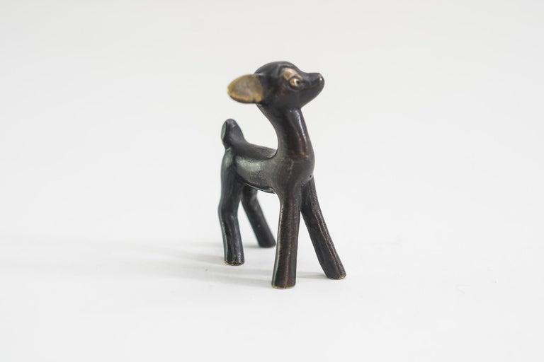 Austrian Deer Figurine by Walter Bosse, Vienna, circa 1950s For Sale