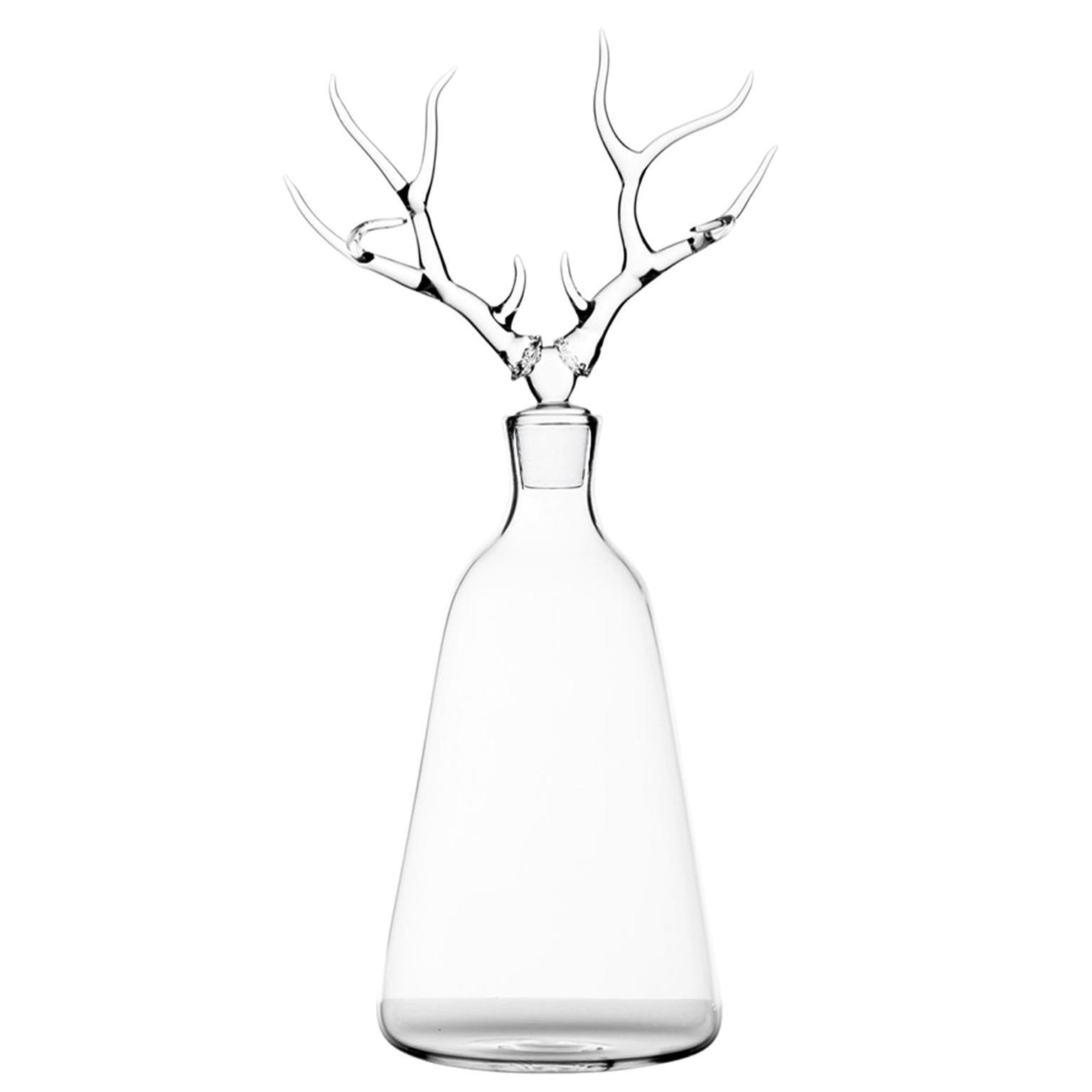 'Deer' Hand Blown Glass Bottle from Trophy Bottles by Simone Crestani