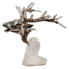 Deer Head by Mellerio dits Meller 'founded 1613' France, circa 1980