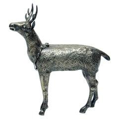 Deer Sculpture in Silver