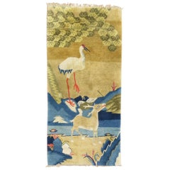 Deer Swan Pictorial Tibetan Pictorial Rug