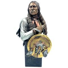 """Defiant Comanche"" Mixed Media Sculpture by Chris Pardell"