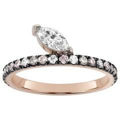 Defne Night Sky Ring, Marquise Diamond Ring
