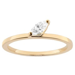 Defne Ring, Marquise Diamond Ring in Yellow Gold
