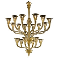 Degas 5554 18 Chandelier in Glass, by Barovier&Toso