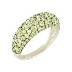 Dégradé Tsavorite Diamond 18 Karat Yellow Gold Designer Ring Inspired by Africa