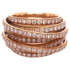 DeGrisogono Rose Gold Allegra Diamond Ring