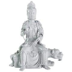 Dehua Porcelain Buddhist Deity, Chinese White, Asia, Quanine
