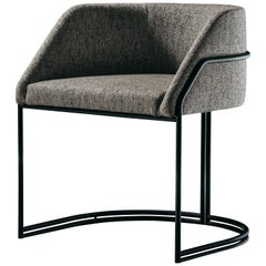 Déjà Vu Chair in Talent Fabrics and Matte Black Metal