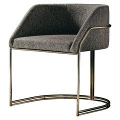 Déjà Vu Chair in Talent Fabrics and Polished Brass Metal