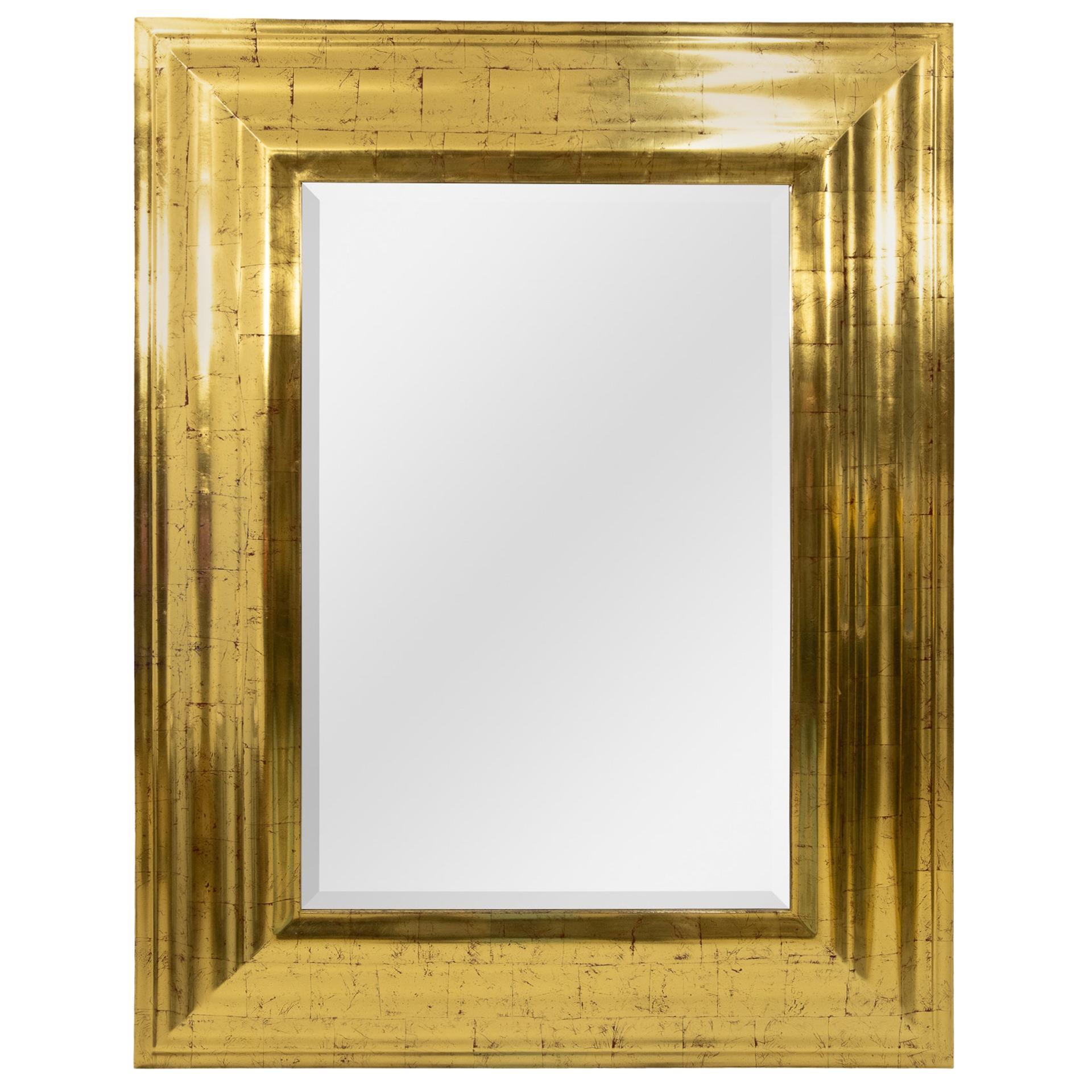 Deknudt Gold Wall Mirror, Regency, 1970s