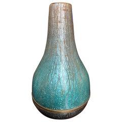 Del Campo 1960s Italian Enamel Vase Rare