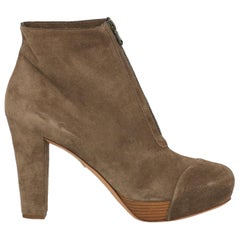 Del Carlo Woman Ankle boots Beige Leather IT 40