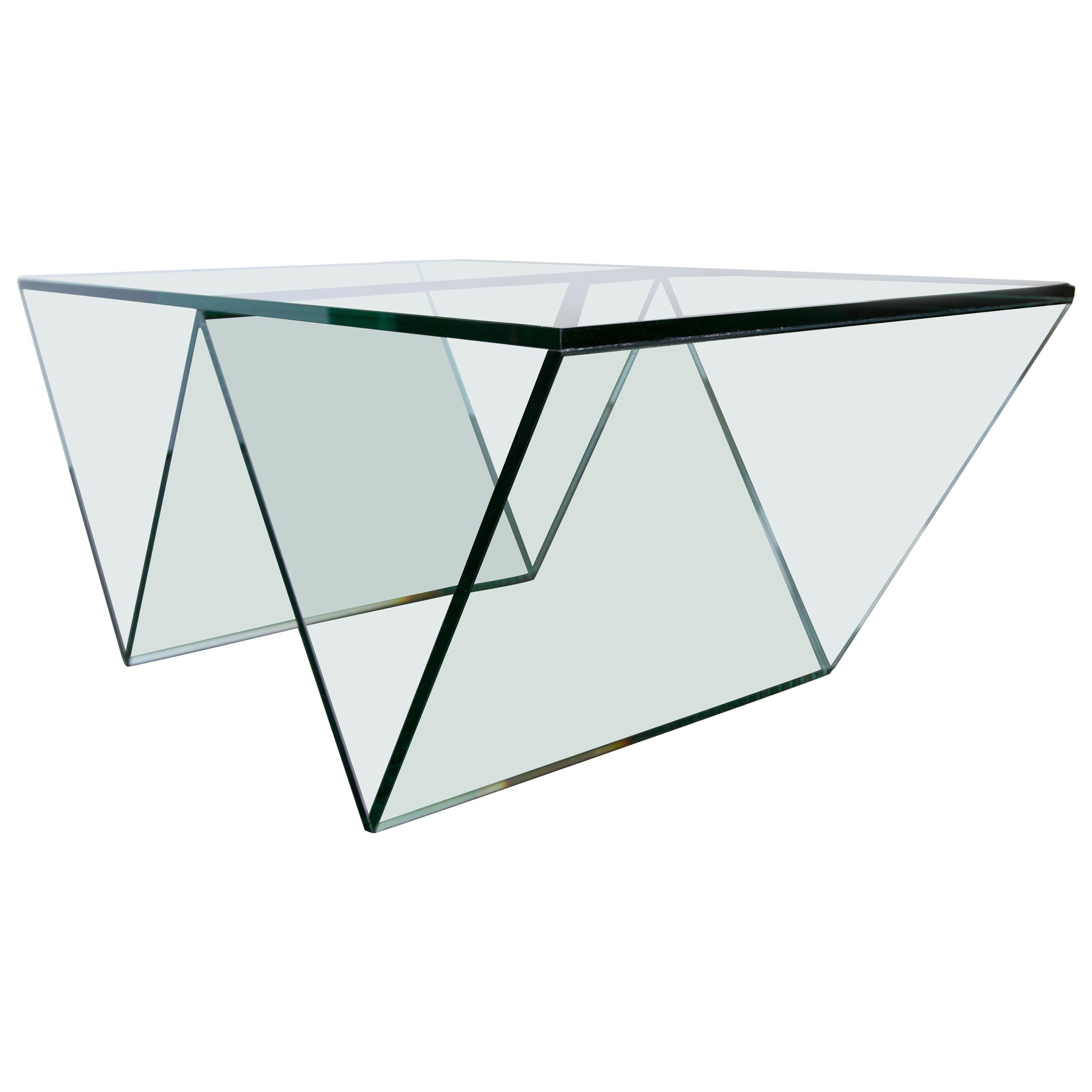 Del Mar Coffee Table in Clear Glass by Mtharu