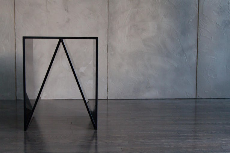This listing is for the Del Mar side table series in smoked grey glass (18