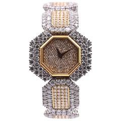 DeLaneau Two-Tone Diamond Ladies Watch