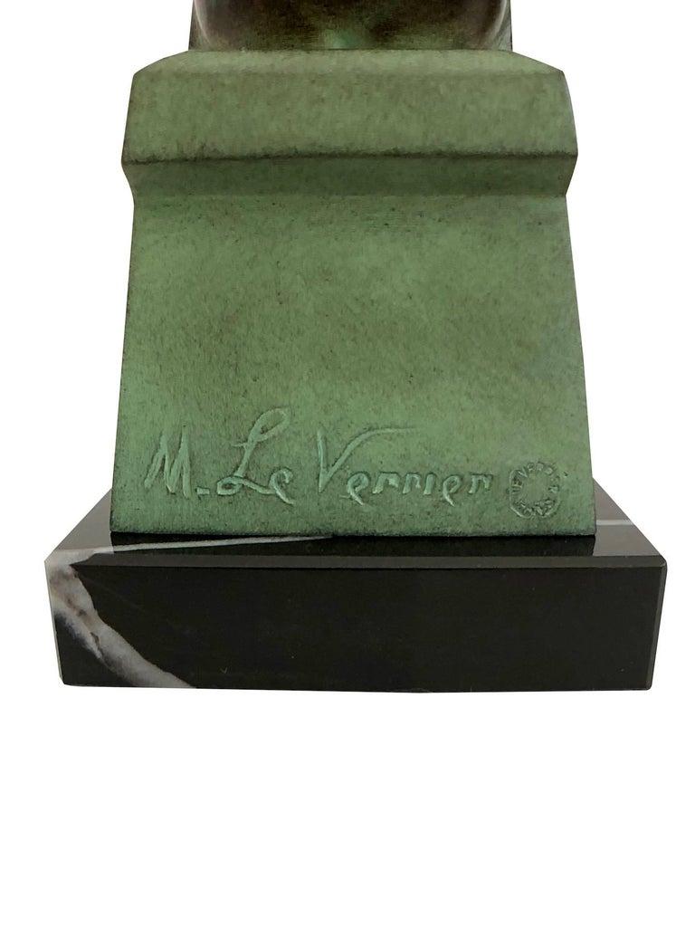 Delassement by Max Le Verrier Art Deco Style Bookends Sculptures Reading Ladies For Sale 2