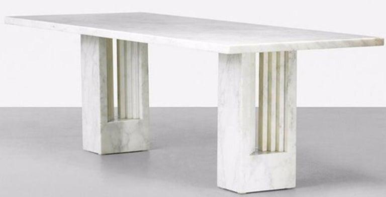 Italian Delfi Table, Original Carrara Marble Table by Carlo Scarpa, 1970s For Sale