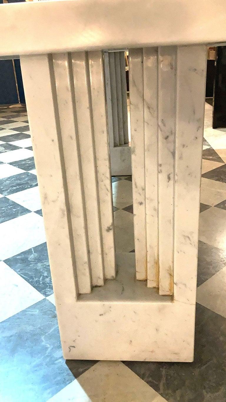 Late 20th Century Delfi Table, Original Carrara Marble Table by Carlo Scarpa, 1970s For Sale