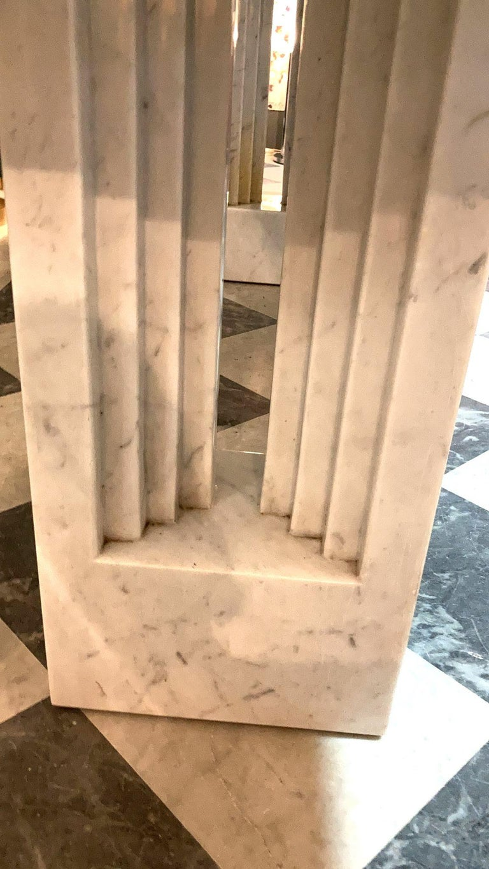 Delfi Table, Original Carrara Marble Table by Carlo Scarpa, 1970s For Sale 1