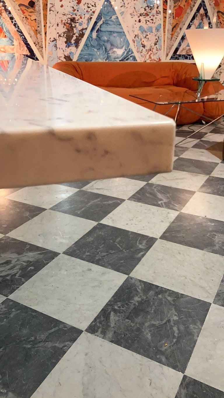 Delfi Table, Original Carrara Marble Table by Carlo Scarpa, 1970s For Sale 2