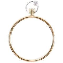 Delfina Delettrez Gold and Diamond Piercing Ring