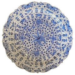 Delft Blue and White Floral Charger, 18th Century