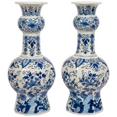 Delft Blue and White Vases, 18th Century