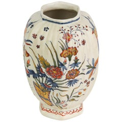 Delft Faience Polychrome Painted Pottery Vase, 18th-19th Century