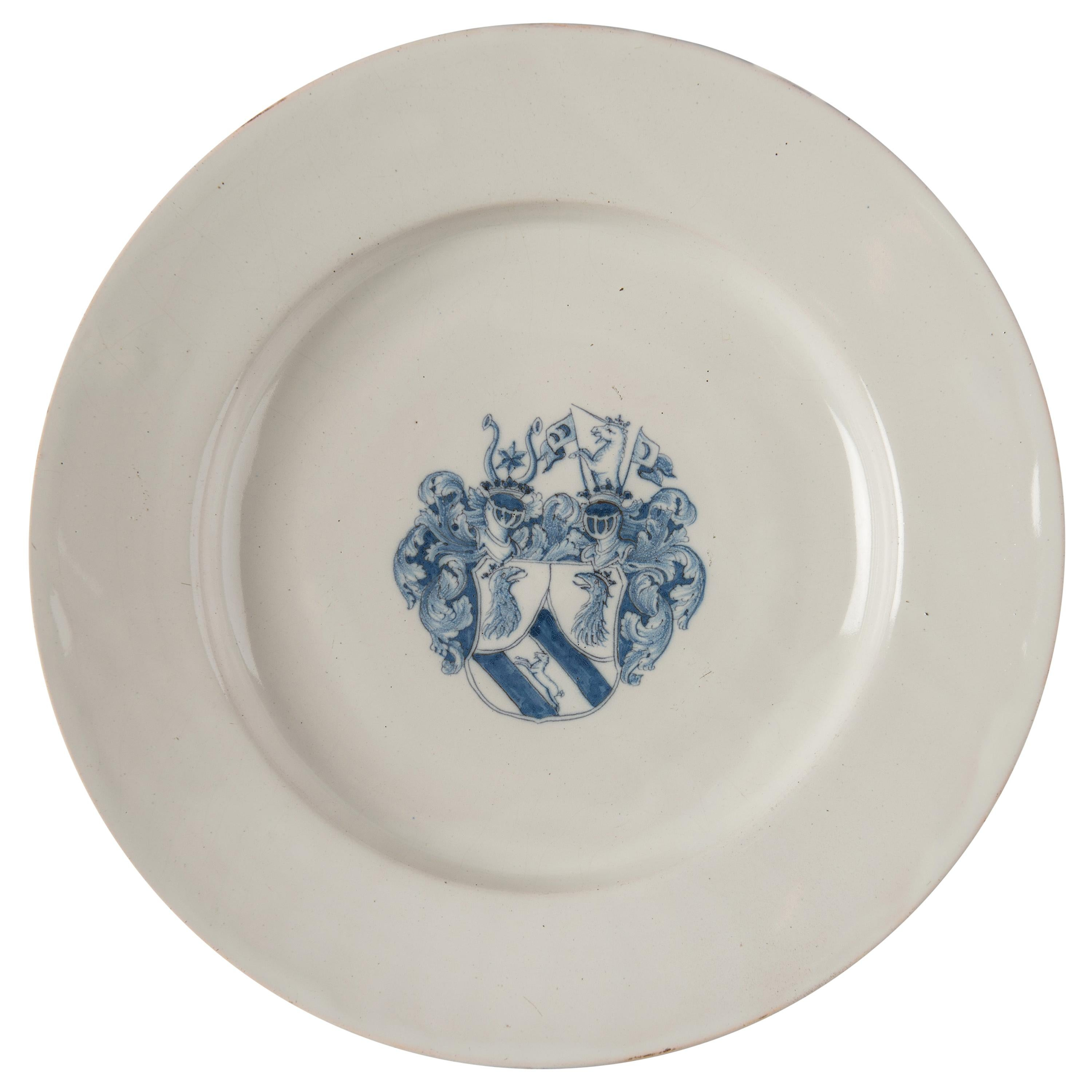 Delft, Large Blue and White Armorial Charger, 1650-1680