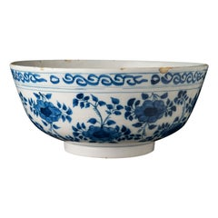 Delft, Large Blue and White Bowl, Delft, 1690-1710s
