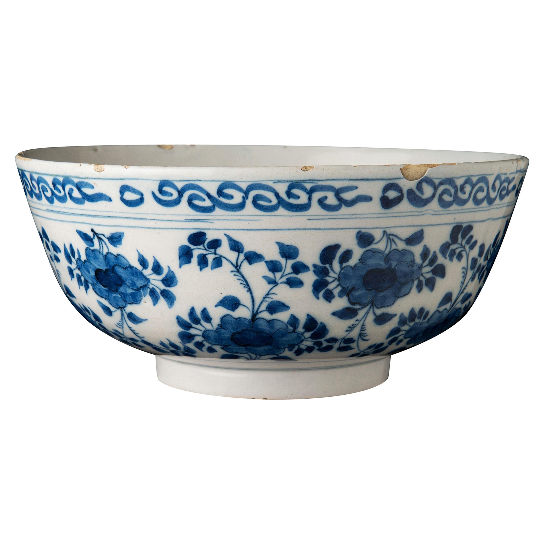 Delft, Large Blue and White Bowl, Delft, 1690-1710s