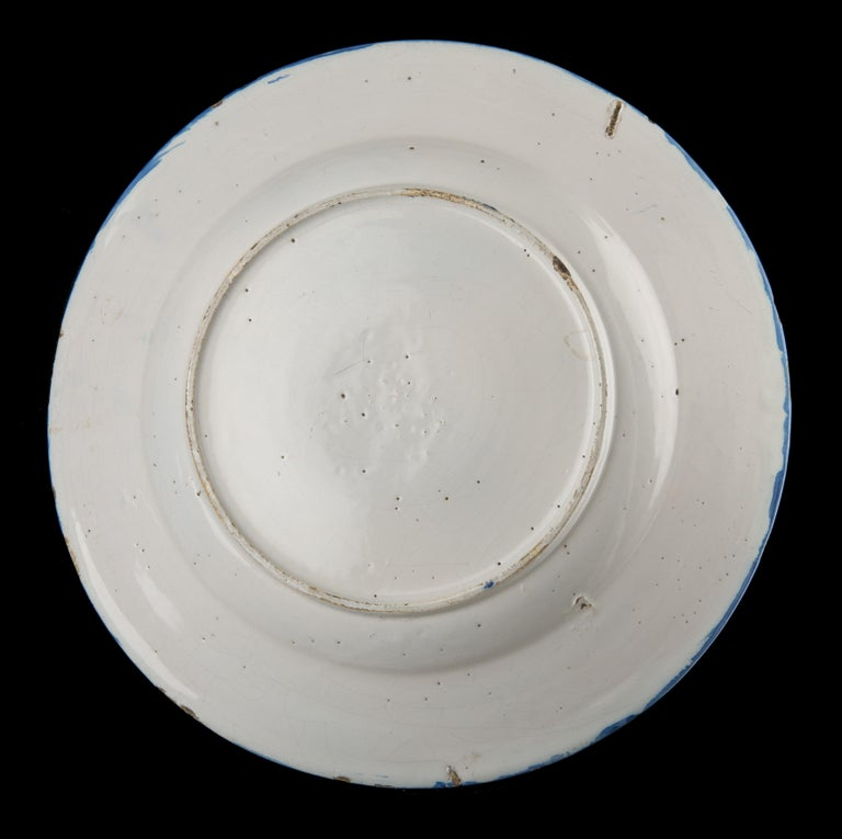 Baroque Delft, Large Blue and White Chinoiserie Dish, 1670 For Sale