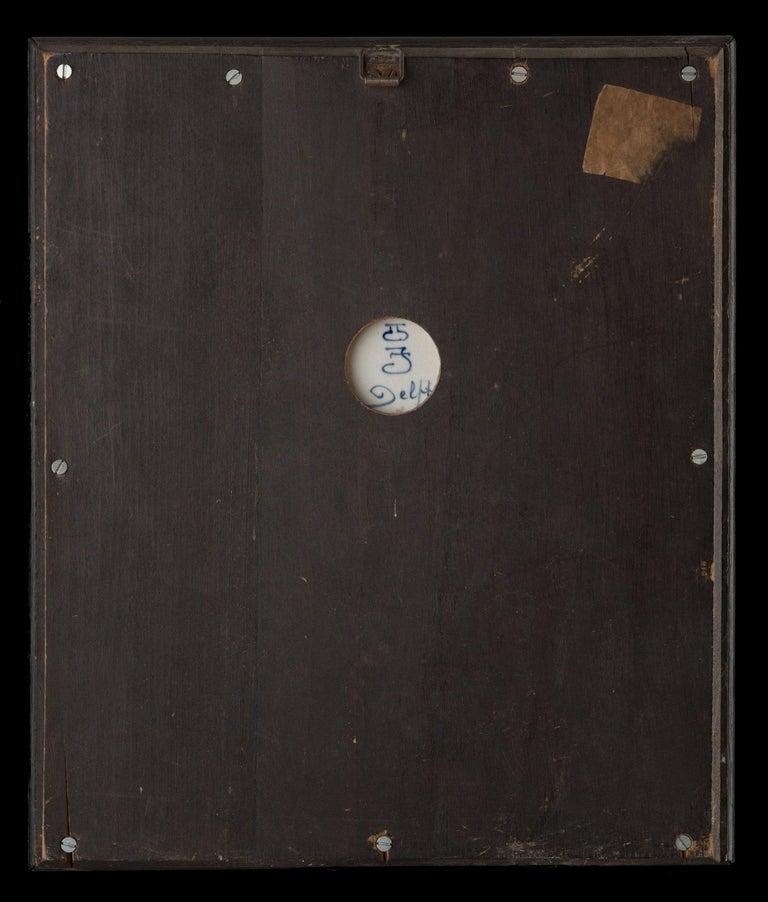 Dutch Delft, Porceleyne Fles Plaque after a Painting by E Verveer Made in 1914 For Sale