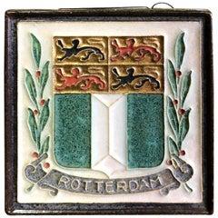"Delft ""Rotterdam"" Holland Ceramic Pottery Tile"