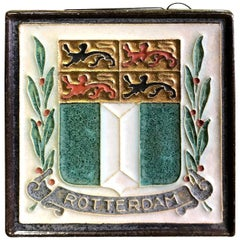 "Delft ""Rotterdam"" Holland Ceramic Pottery Tile"