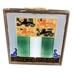 "Delft Westraven ""Rotterdam"" Holland Ceramic Pottery Tile"