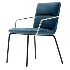 Delia Luxury Blue Chair by Castello Lagravinese Studio
