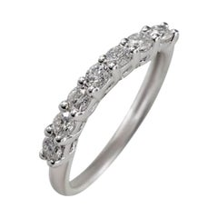 Delicate Classic White Gold White Diamond Engagement Wedding Band Ring for Her