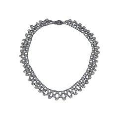 Delicate Crystal Art Deco Necklace