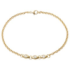 Delicate Diamond and Gold Bracelet