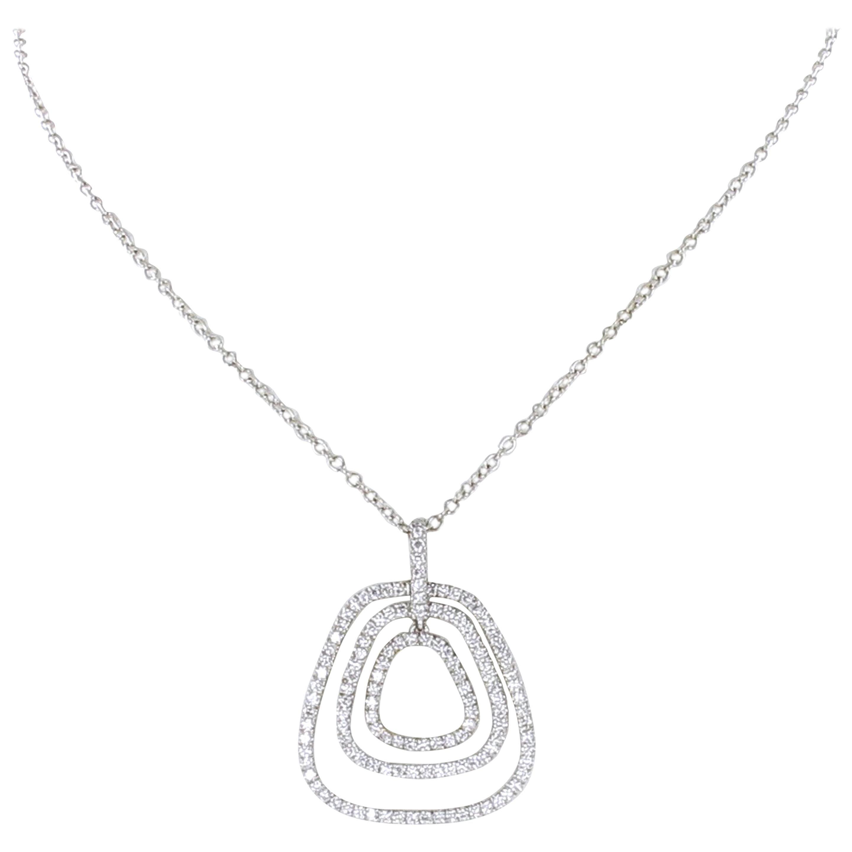 Delicate Diamond Pendant in Platinum