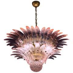 Delicious Pink Murano Palmette Chandelier