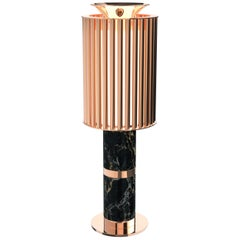 Delightfull Donna Table Light in Copper with Black Marble Base