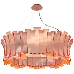 Delightfull Etta Round Pendant Light in Copper