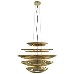 Hendrix Five-Tier Chandelier in Brass