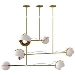 Laine Pendant Light in Brass and White